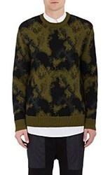 Public School Men's Camouflage Crewneck Sweater Green