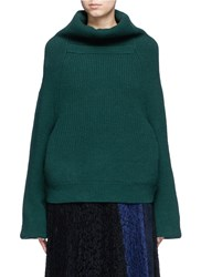 Toga Archives Merino Wool Turtleneck Sweater Green