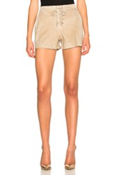 Rag And Bone Jean Lace Up Shorts In Neutrals