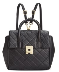 Calvin Klein Quilted Backpack Black Gold