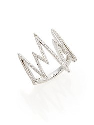 Effy Diamond And 14K White Gold Spike Ring