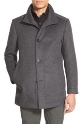 Hugo Boss 'Coxtan' Trim Fit Wool Car Coat Gray