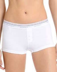2Xist 2 X Ist Retro Cotton Boy Shorts Wu0133 White