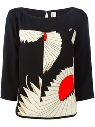 Antonio Marras Geometric Print Top Black