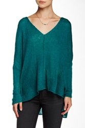 Wooden Ships Wren V Neck Sweater Green