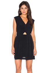 Rvca Meecrow V Neck Mini Dress Black