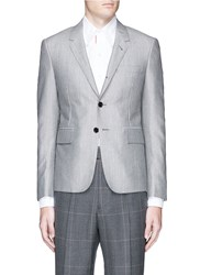 Thom Browne Wool Mohair Blend Blazer Grey
