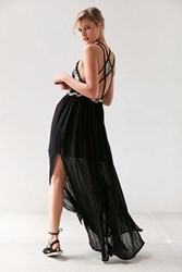 Pins And Needles Woven Bodice Maxi Dress Black And White