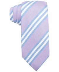 Tasso Elba Tivoli Double Stripe Tie Only At Macy's Lilac