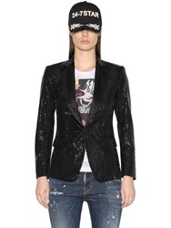 Dsquared Sequined Tuxedo Jacket