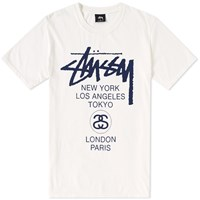 Stussy World Tour Tee Neutrals
