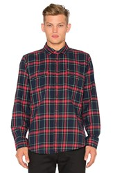 Obey Highland Button Down Red