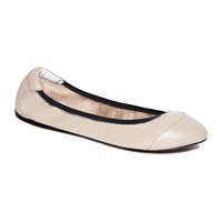 Cocorose London Brixton Nude Leather Foldable Ballerina