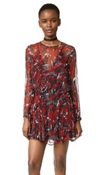 Iro Ressey Dress Black Red