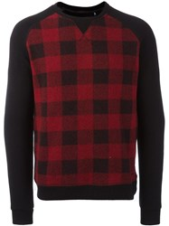 Woolrich Checked Sweater Black