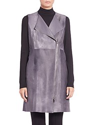 Lafayette 148 New York Blaise Calf Hair And Leather Vest Rock