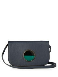 Marni Pois Small Leather Cross Body Bag Navy