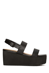 Nasty Gal Shoe Cult Bianca Flatform Black