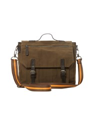 White Stuff Mens Stripe Tape Satchel Khaki