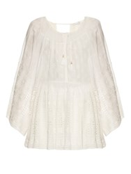 Zimmermann Harlequin Broderie Top White