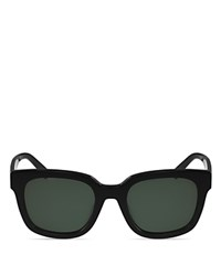 Mcm Square Sunglasses 54Mm Shiny Black Solid Lens