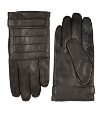Boss Mercedes Smooth Leather Gloves Unisex Black