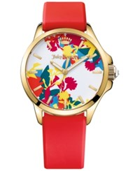 Juicy Couture Women's Jetsetter Hot Pink Silicone Strap Watch 38Mm 1901388