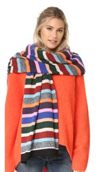 White Warren Cashmere Travel Wrap Scarf Prism Multi