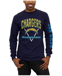 Junk Food Men's San Diego Chargers Nickel Formation Long Sleeve T Shirt Navy