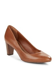 Lauren Ralph Lauren Hala Leather Pumps Polo Tan