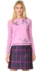 Carven Applique Sweater Rose