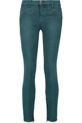 Current Elliott The Silverlake Low Rise Skinny Jeans Teal