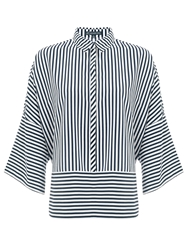 Adrianna Papell 3 4 Length Sleeve Striped Blouse Multi Coloured