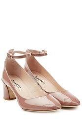 Repetto Patent Leather Mary Jane Pumps Rose