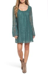 Sequin Hearts Women's Lace Bell Sleeve Shift Dress