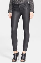 Belstaff 'Amelie' Coated Denim Ankle Pants Black