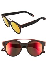 Givenchy Women's 50Mm Round Sunglasses Black Red Grey Orange Black Red Grey Orange