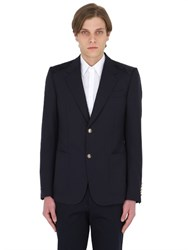 Gucci Heritage Stretch Wool Blend Twill Jacket