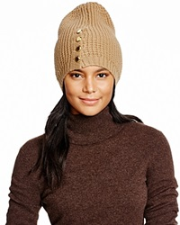 Michael Kors Waffle Stitch Slouchy Hat 100 Bloomingdale's Exclusive Dark Camel