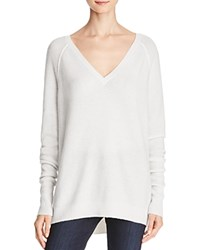 J Brand Bache Slouchy Ribbed Sweater Winter White