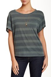 Stateside Striped Pocket Tee Green
