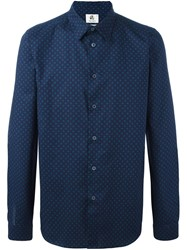 Paul Smith Ps By Printed Button Down Shirt Blue
