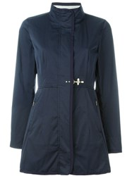 Fay Funnel Neck Padded Coat Blue