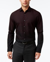 Alfani Men's Ombre Dot Long Sleeve Shirt Only At Macy's Tango Red