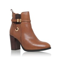 Carvela Stacey High Heel Ankle Boots Tan