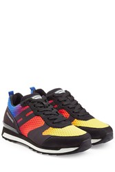 Hogan Rebel Rainbow And Suede Sneakers Multicolor
