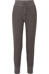 Yummie Tummie Stretch Cotton And Modal Blend Track Pants Gray