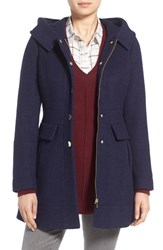 Guess Petite Women's 'Mod' Hooded Jacket Navy