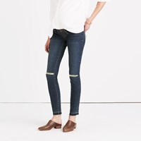 Madewell Maternity Skinny Jeans In Lorelei Wash Drop Hem Edition