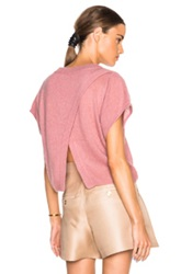 Mason By Michelle Mason Cropped Oversized Sweater In Pink